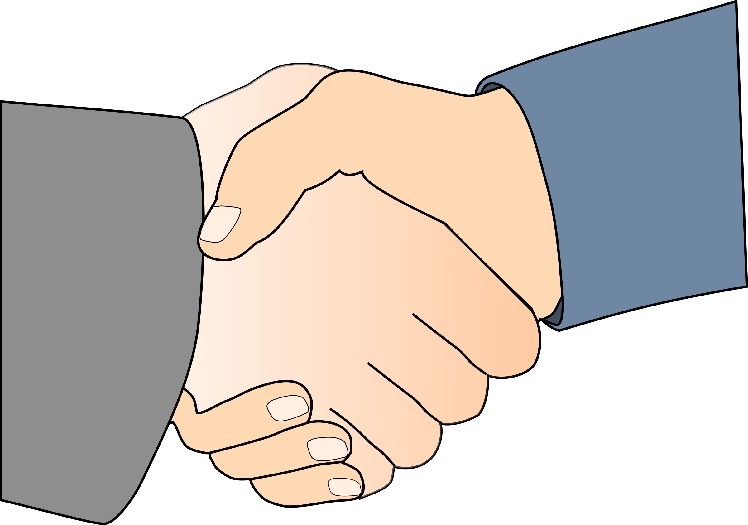 With black outline white. Handshake clipart communication