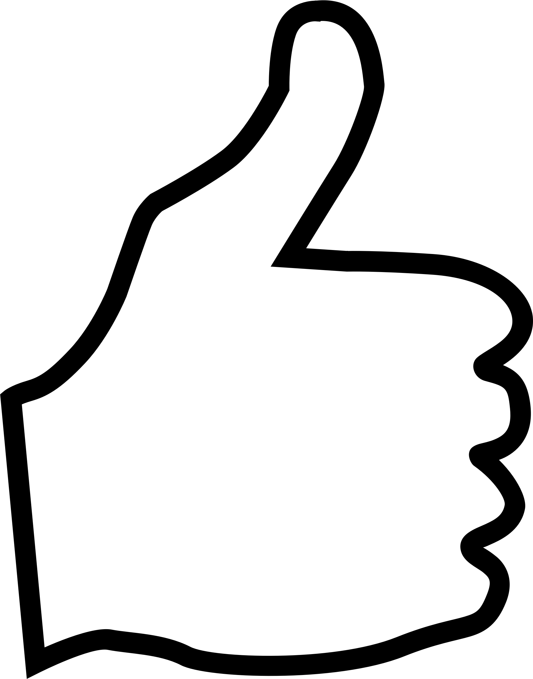 Bobook thumbs up . Thumb clipart double