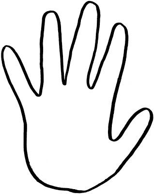 Handprint clipart hand outline.  clip art clipartlook