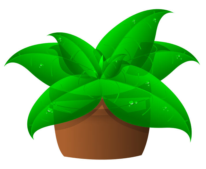 Hand clipart plant. Green