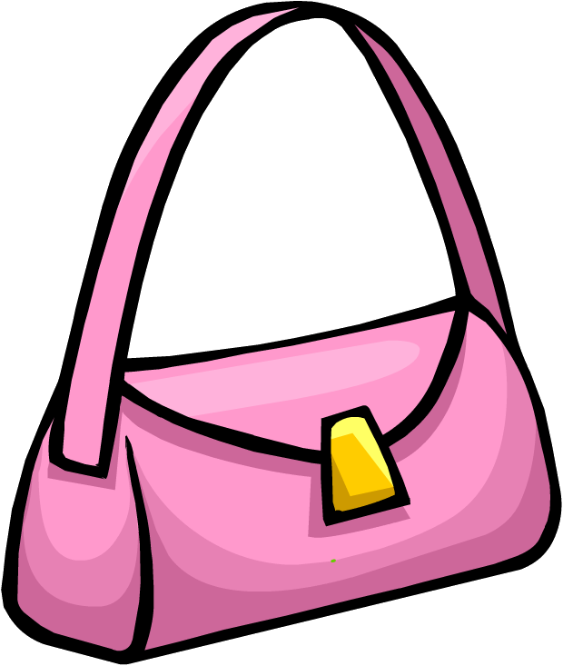 Pink pinterest and penguins. Lady clipart purse