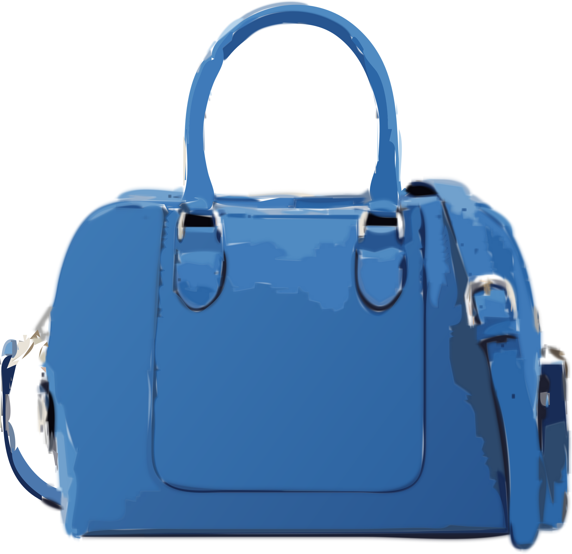 Blue handbag despamed big. Hand clipart purse