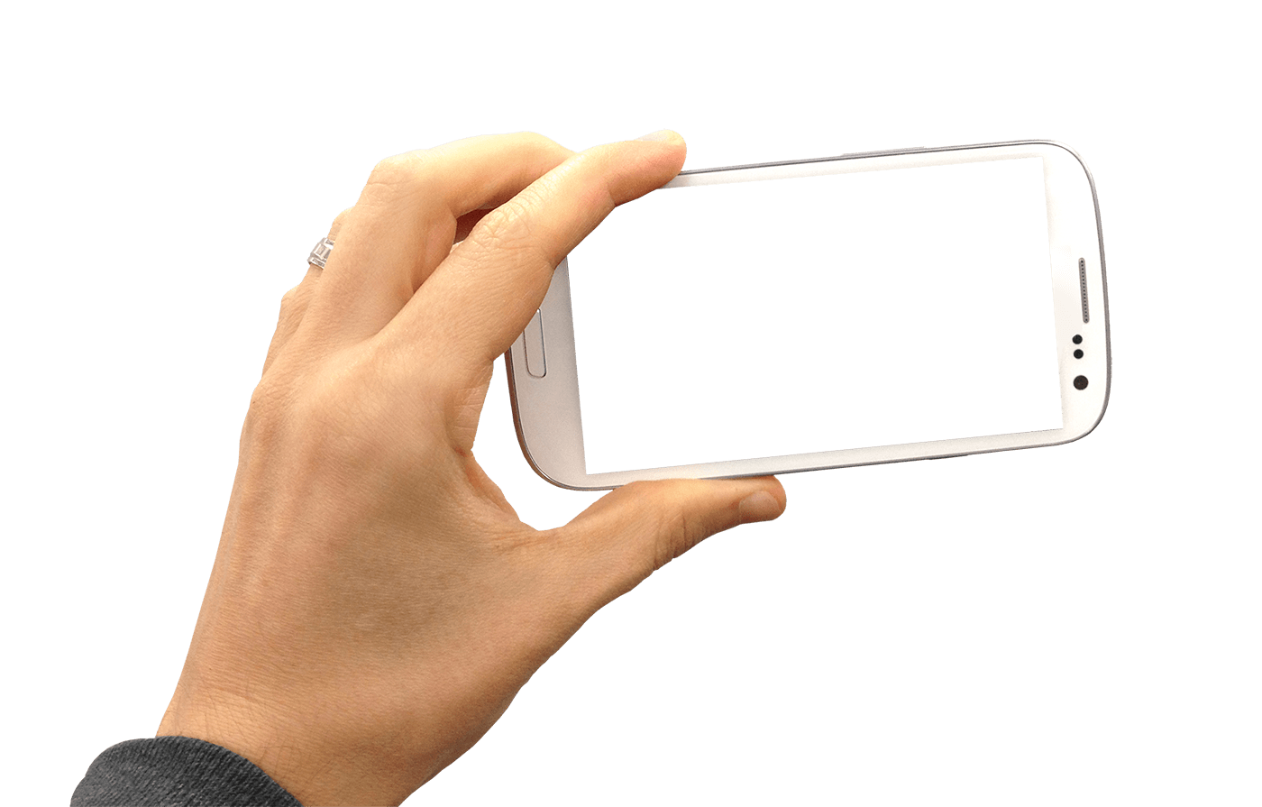 Hand holding landscape transparent. Hands clipart smartphone