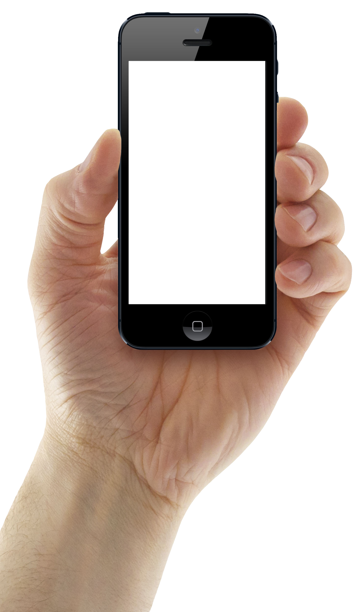 Holding iphone mobile png. Hand clipart smartphone