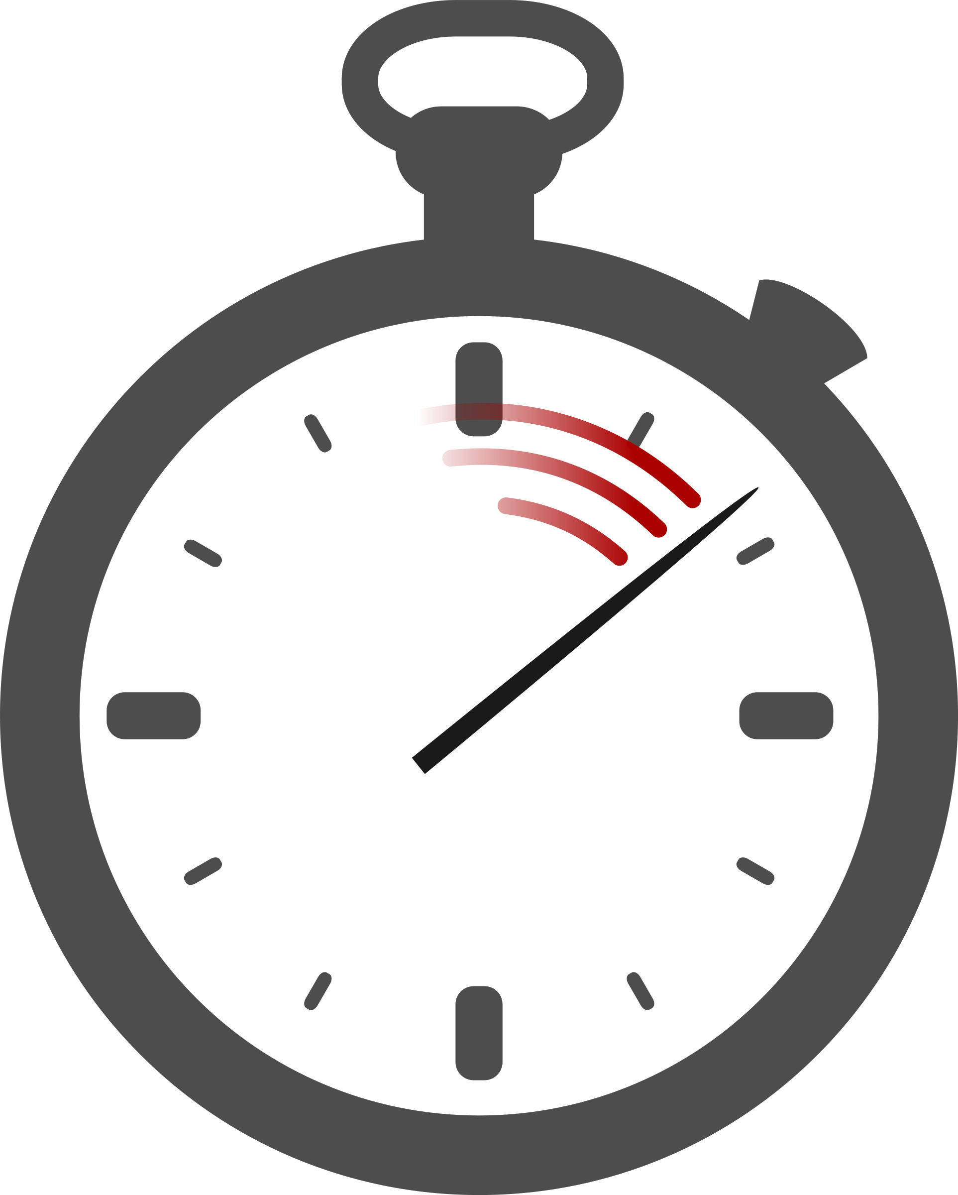 Hand clipart stopwatch. No shading big image