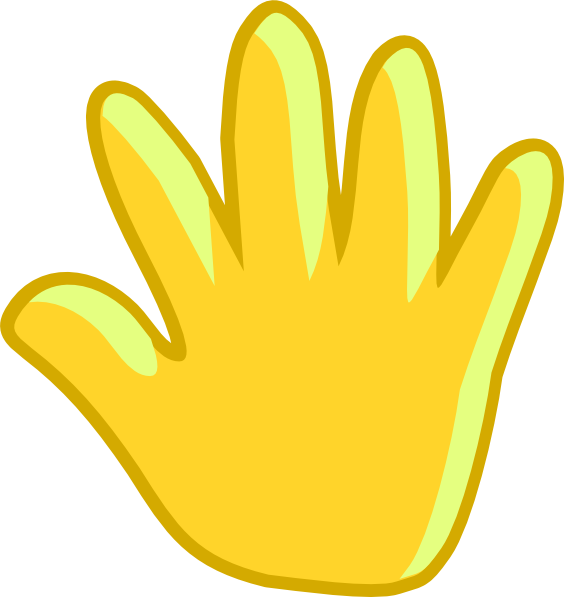 Move clip art at. Hand clipart wave goodbye