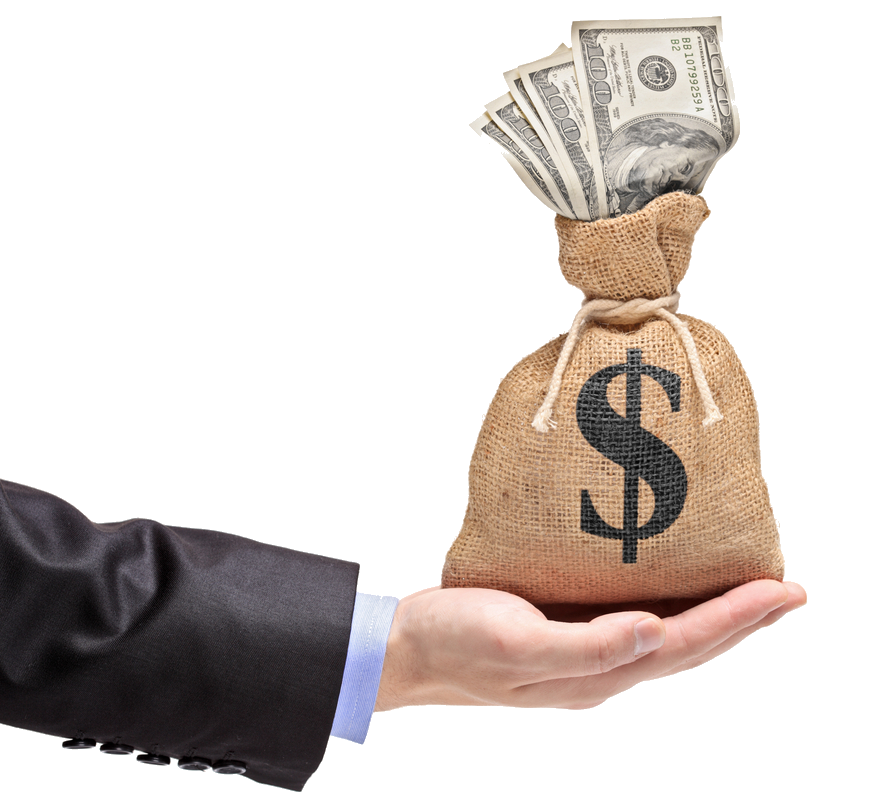 What are the top. Hand holding money png