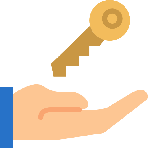Hand icon png. With house key free