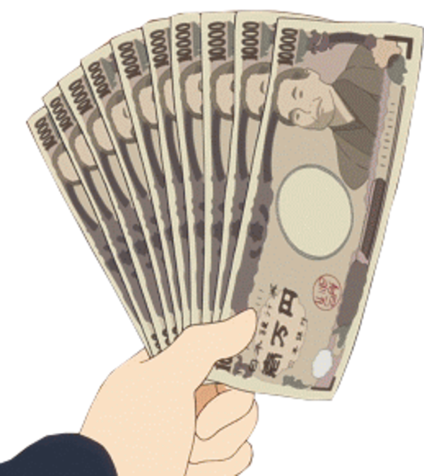 Hand money png. Anime sticker by franny