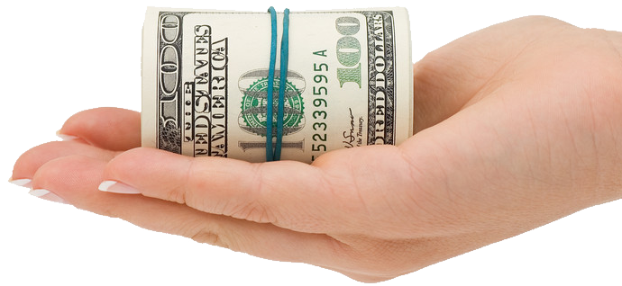 Make transparent images pluspng. Hand money png