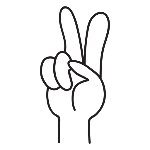 Hand vector png. Peace sign transparent svg