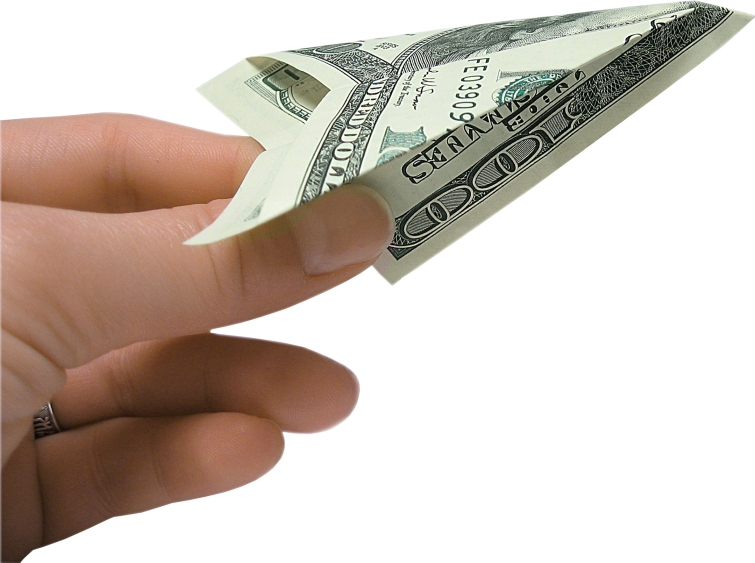In . Hand with money png