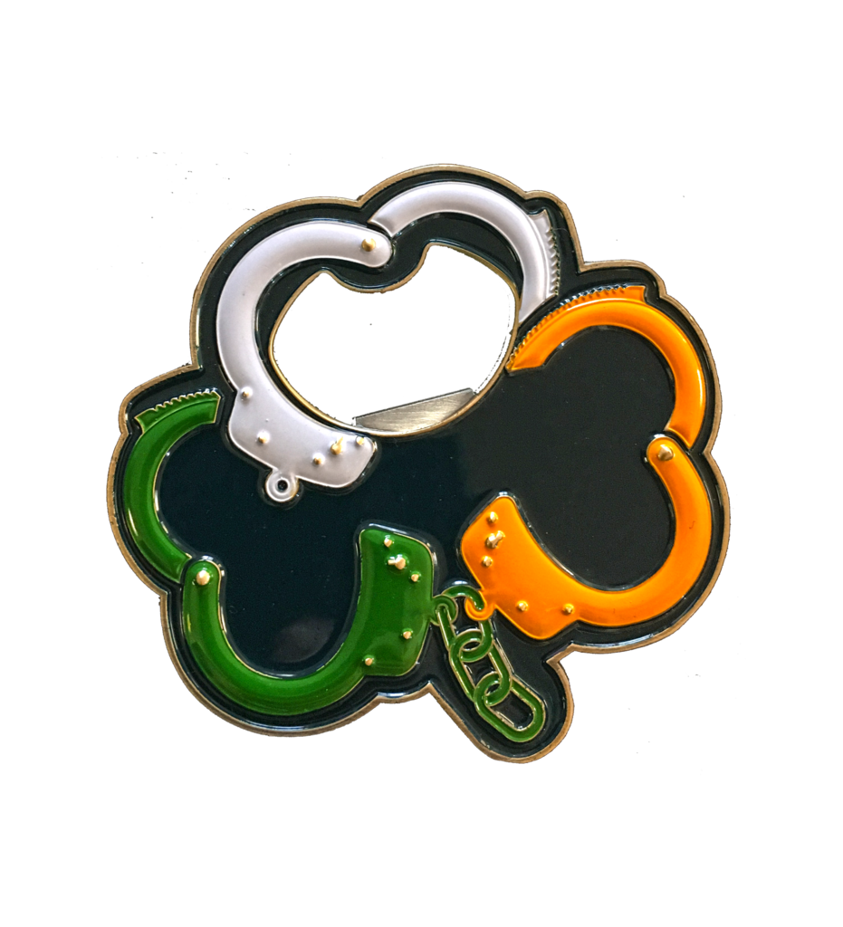 Handcuffs clipart item. Irish challenge coin and