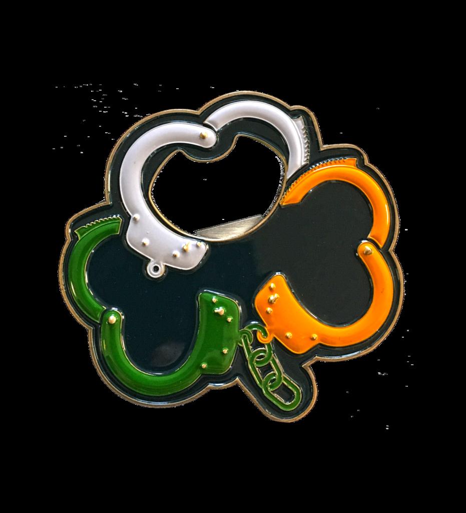 Handcuff clipart accessory. Irish handcuffs challenge coin