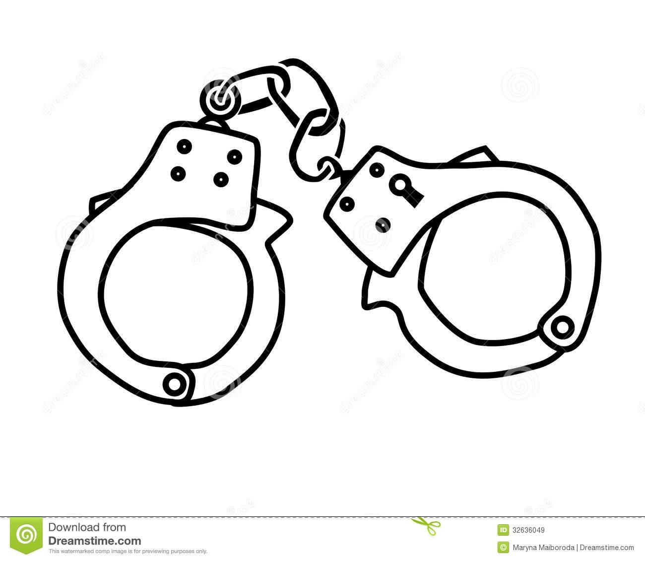 Handcuffs portal . Handcuff clipart black and white