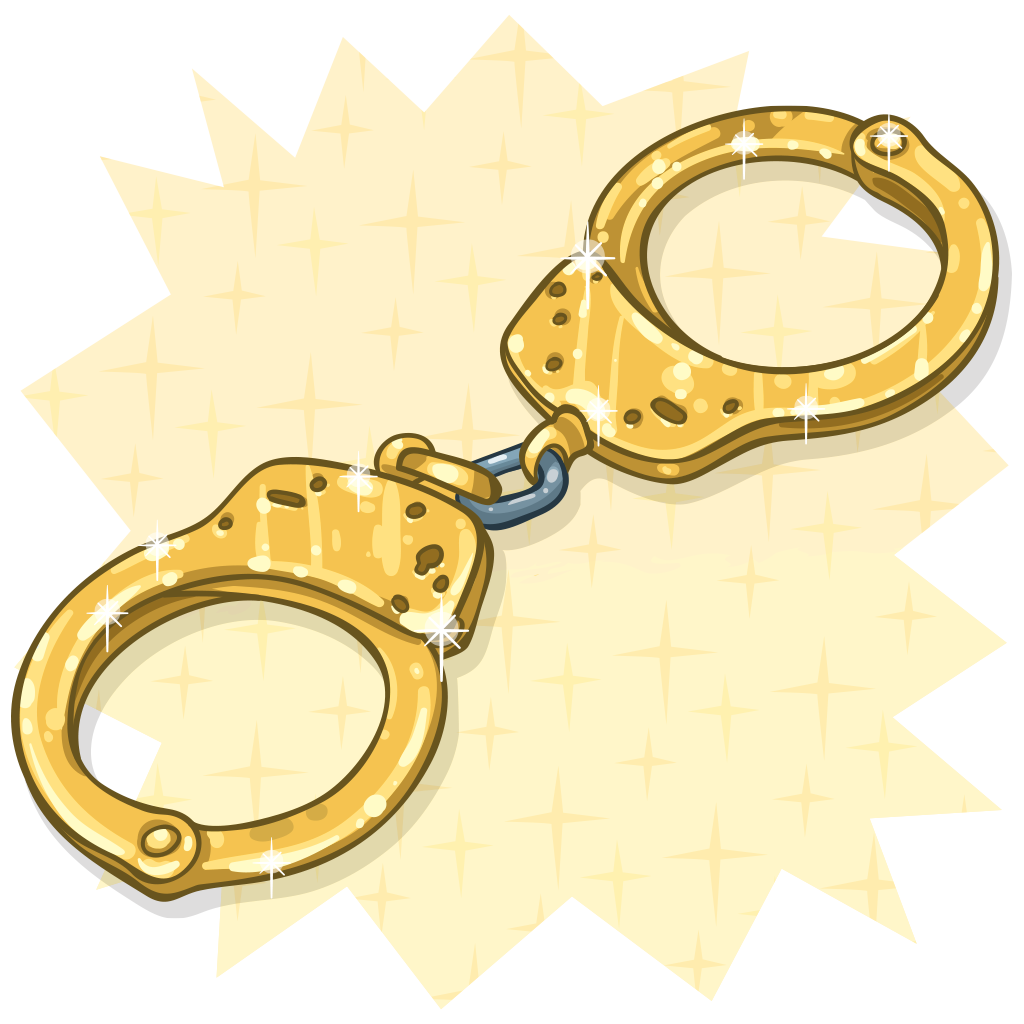 Handcuff clipart broken. Item detail golden handcuffs