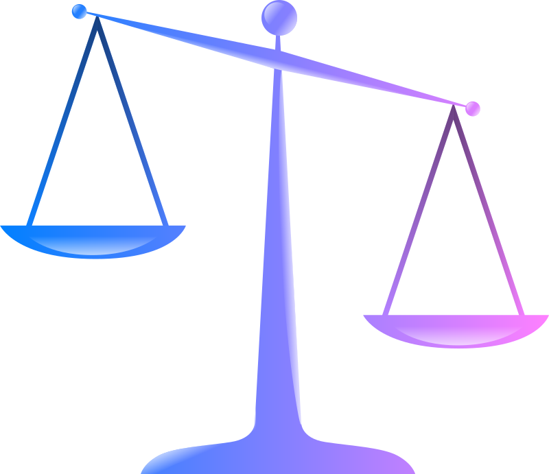 Scales of justice colored. Weight clipart broken scale