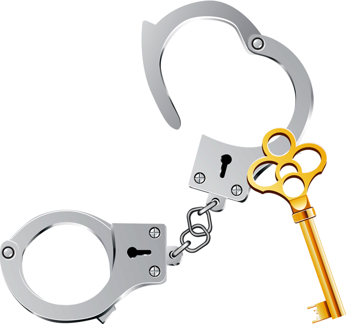 Handcuffs clipart handcuffed man. Police letters format clipartbarn