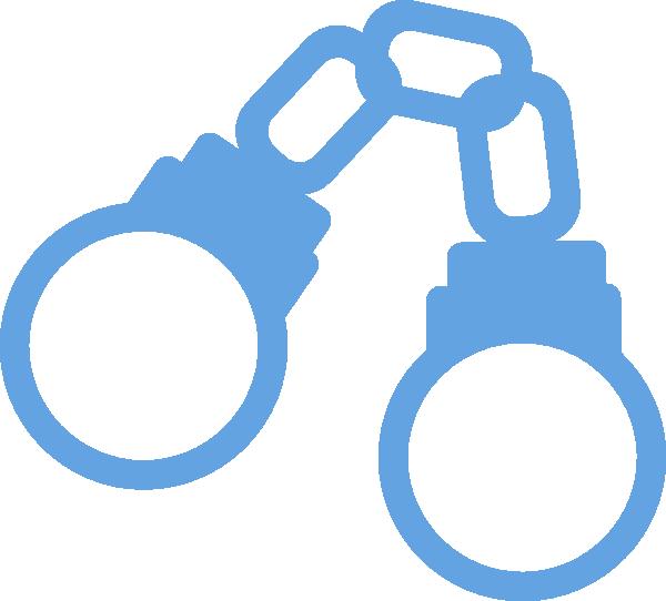 Handcuffs clipart animated. Light blue cartoon closed