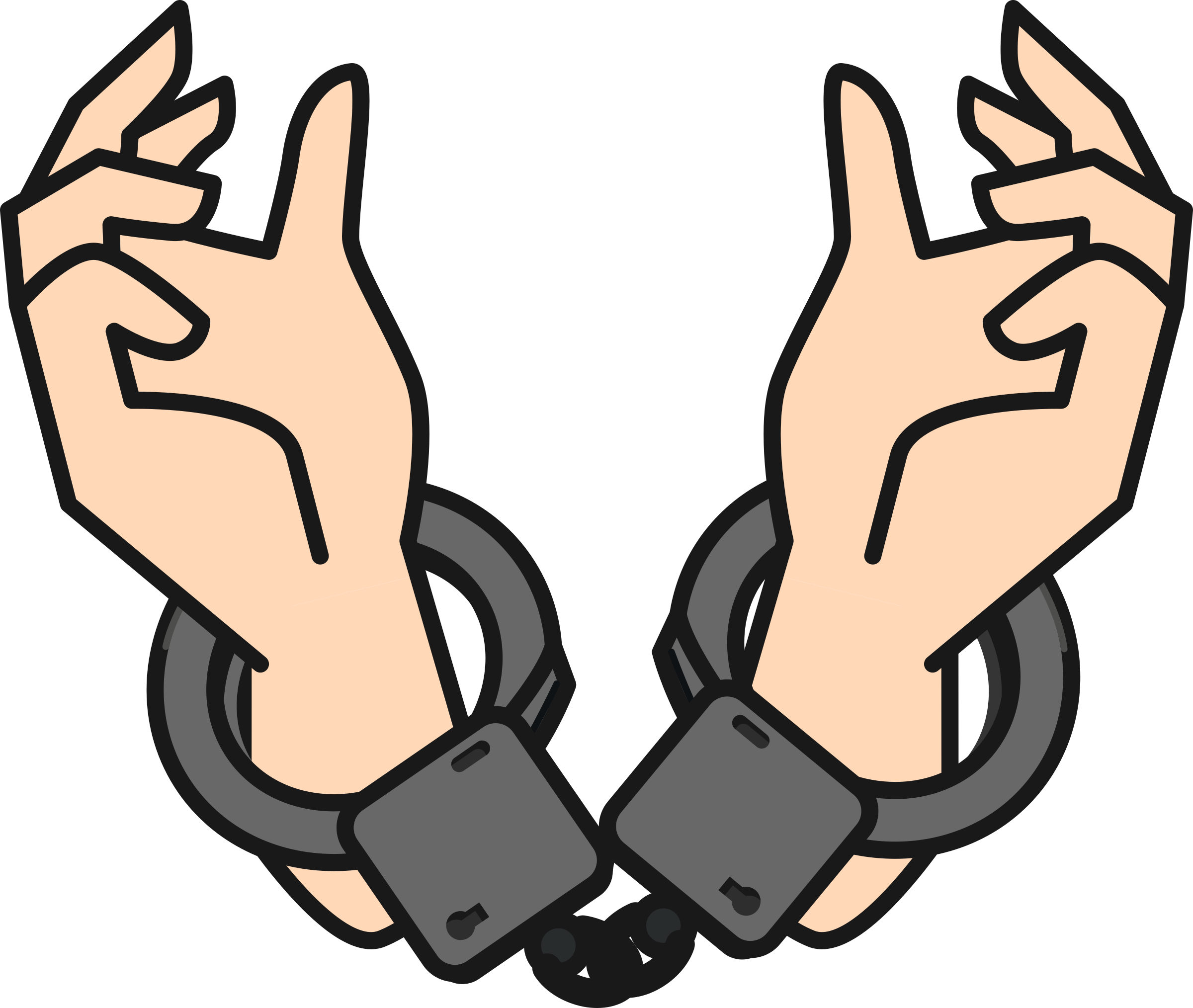 handcuffs clipart cuffed hand