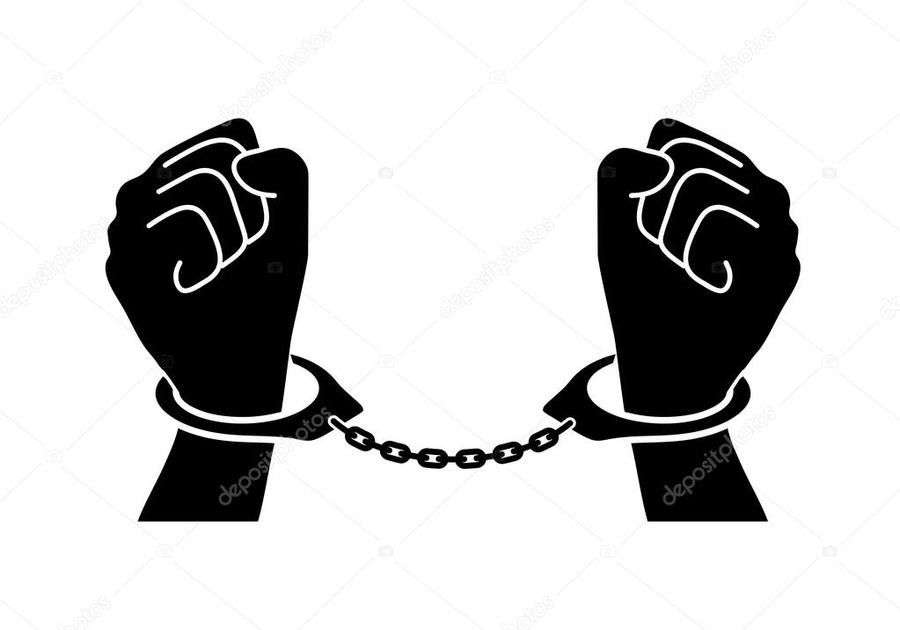 Download hands in handcuffs. Handcuff clipart cuffed hand