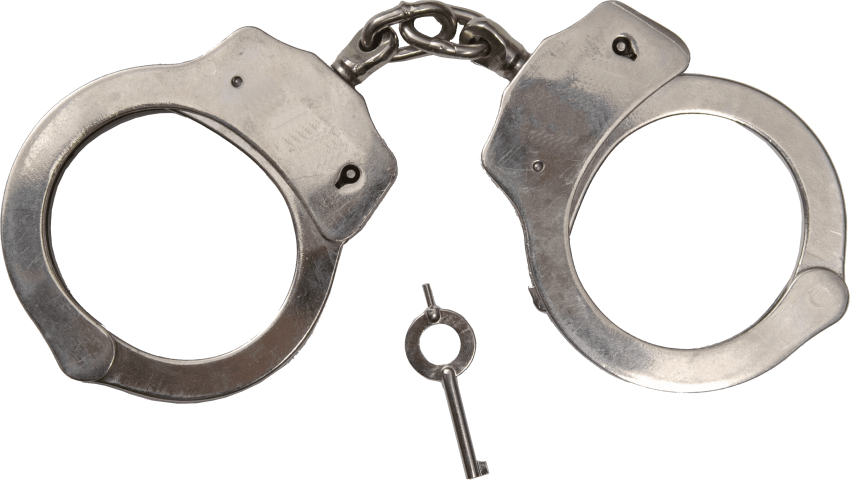 Handcuffs clipart blue. Classic metal png free