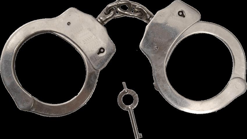 Classic metal handcuffs png. Handcuff clipart hand cuff