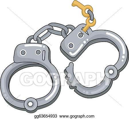 Handcuff clipart handcuff key. Vector art handcuffs with