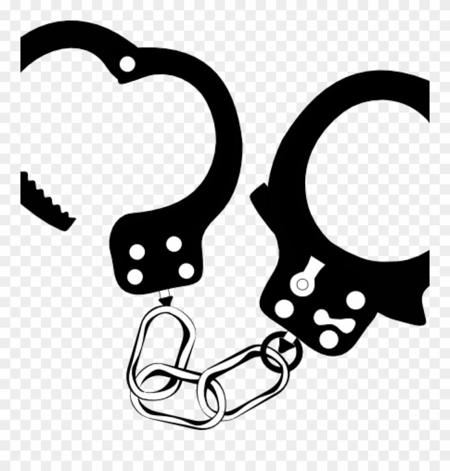 Handcuffs clipart handcuff key. Black and white clip