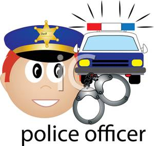 Handcuffs clipart police officer. A with car and