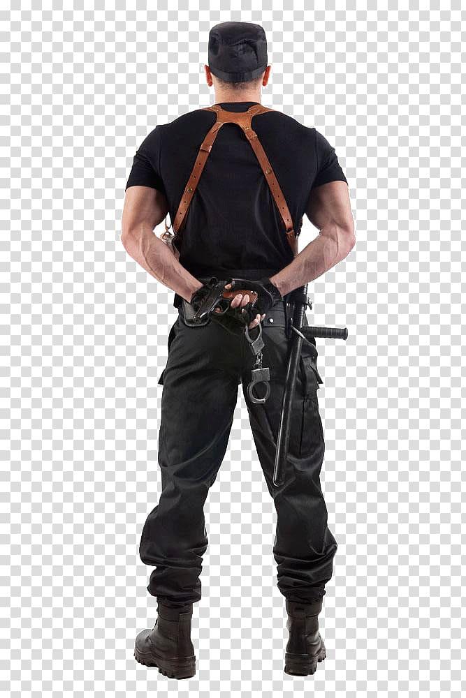 Man in black t. Handcuff clipart policeman