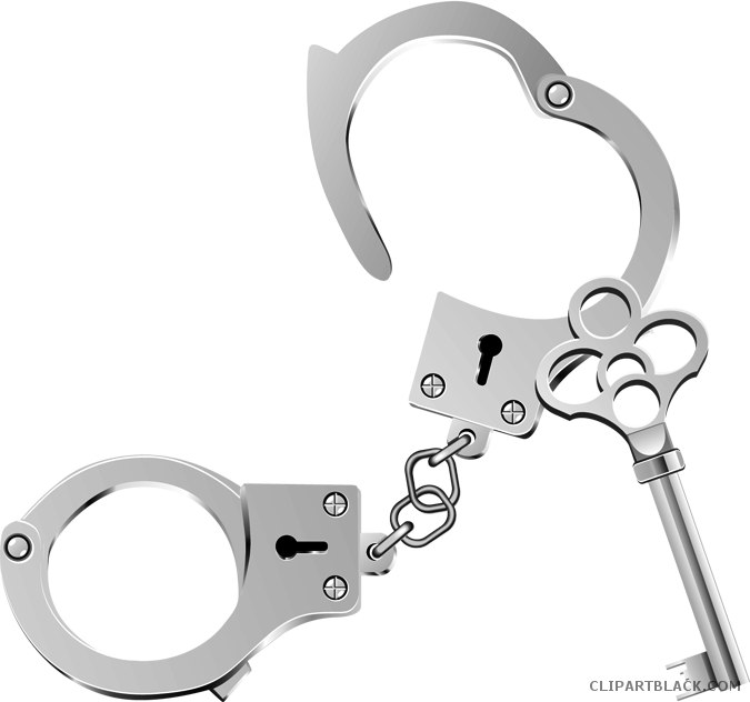 Handcuffs clipart thing. Police clipartblack com tools