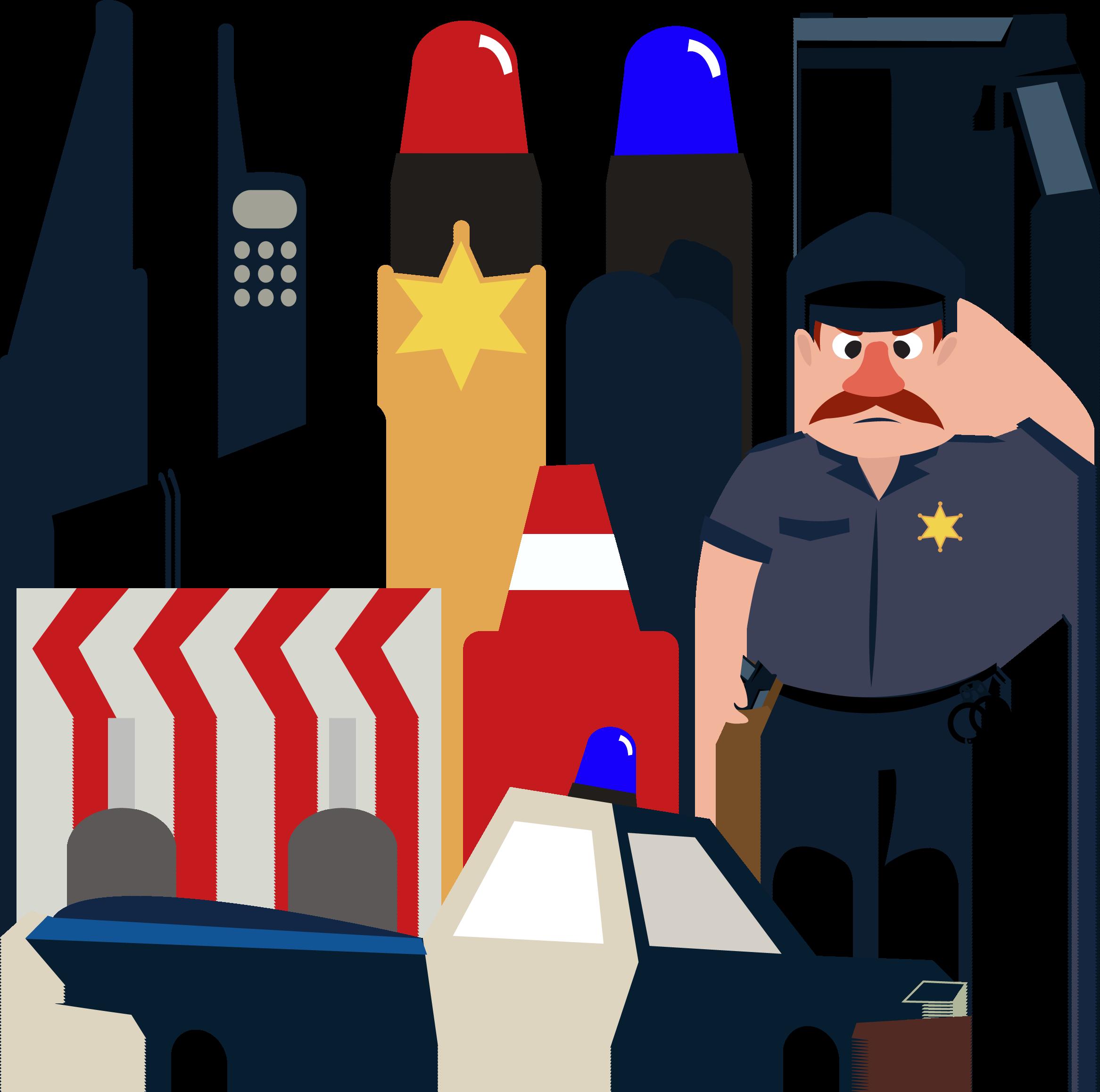Handcuffs clipart police officer. Cartoon illustration tools
