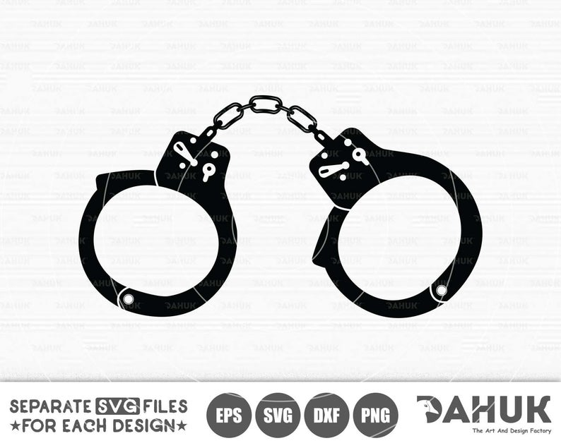 Svg files cut file. Handcuff clipart tool