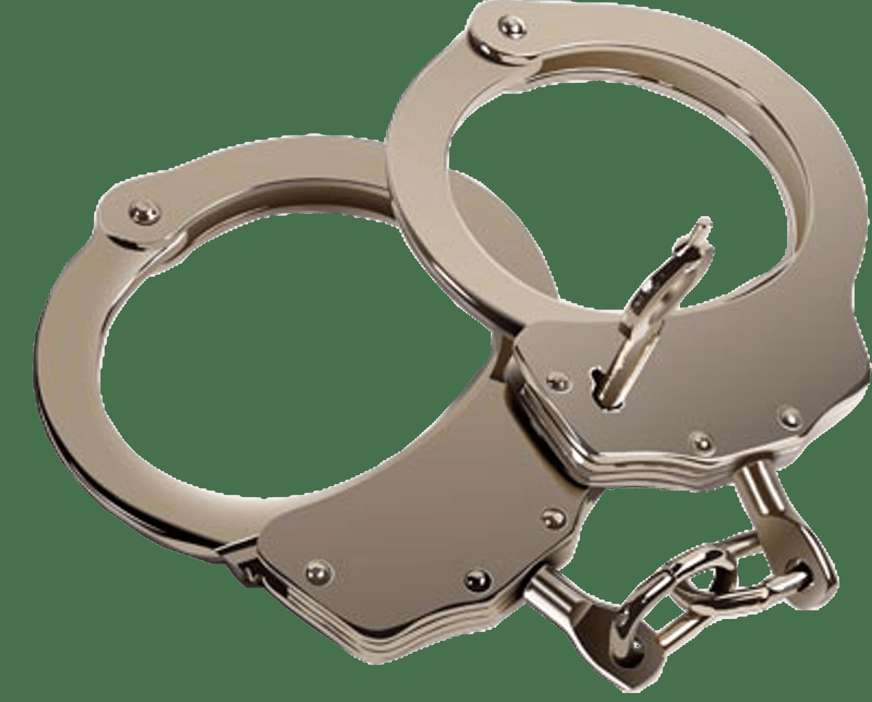 Handcuff clipart transparent background. Pair of hand cuffs