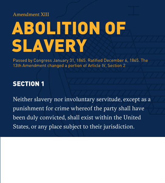 Handcuffs clipart 13th amendment. Constitution project my storybook