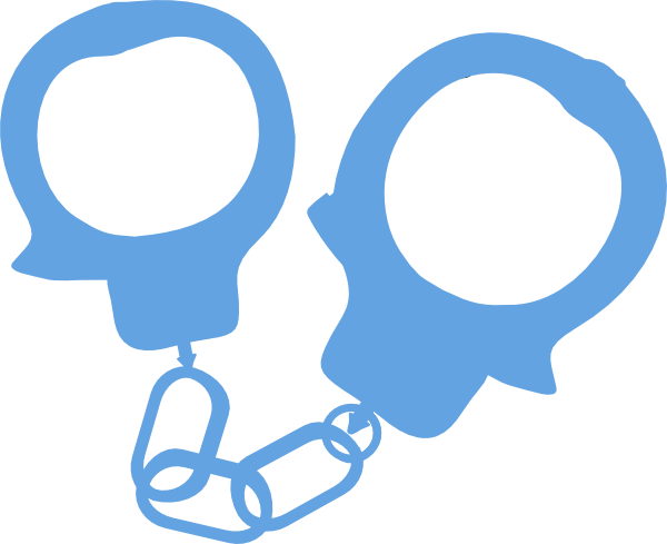Handcuffs police blue at. Handcuff clipart clip art