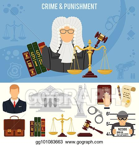 Handcuffs clipart criminal court. Vector art crime and