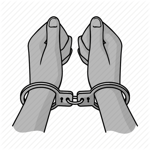 Handcuffs clipart cuffed hand.  crime by yehor