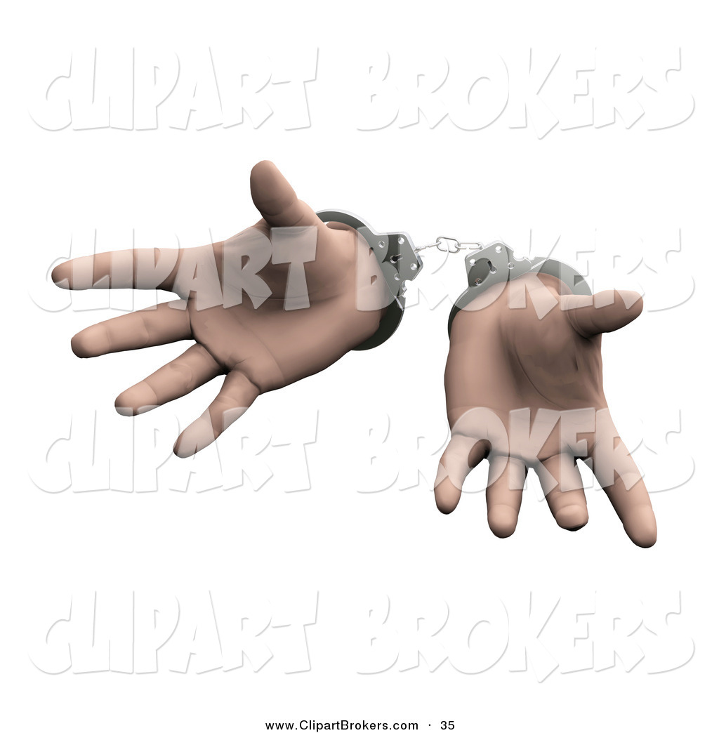 Handcuffs clipart cuffed hand. Clip art of a
