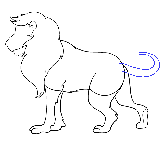 Lions step by at. Handcuffs clipart easy drawing