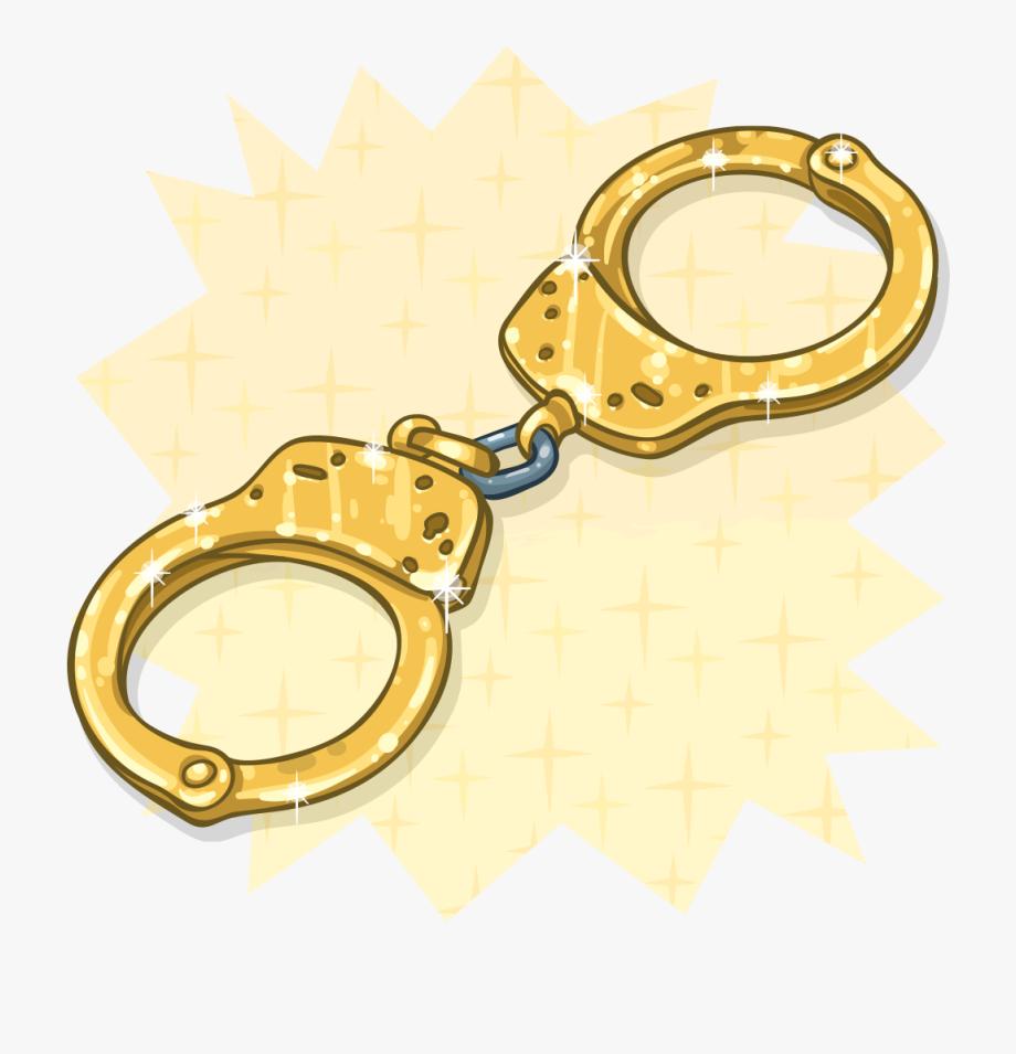 Handcuffs clipart gold. Golden transparent png
