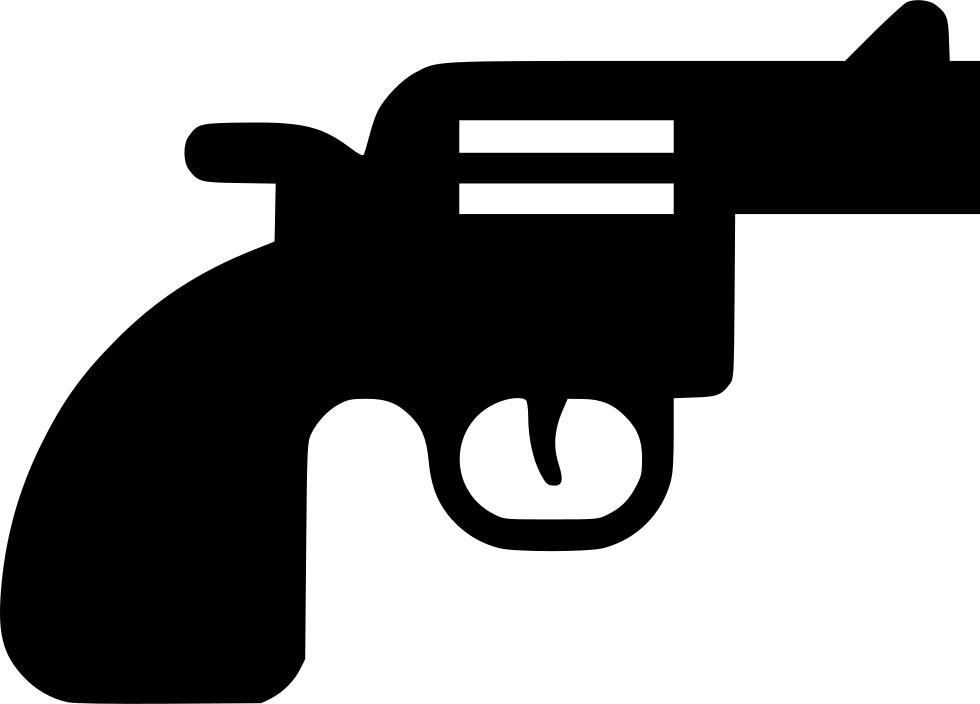 Revolver svg png icon. Handcuffs clipart gun