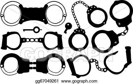 Vector illustration gg . Handcuffs clipart handcuff key