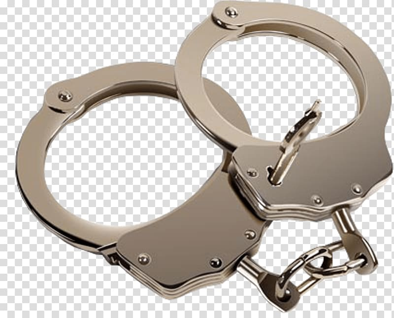 Gray stainless steel with. Handcuffs clipart pair
