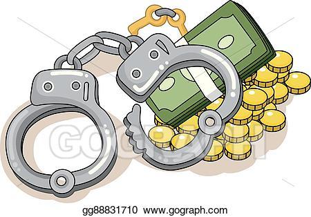 Handcuffs clipart pair. Clip art vector money