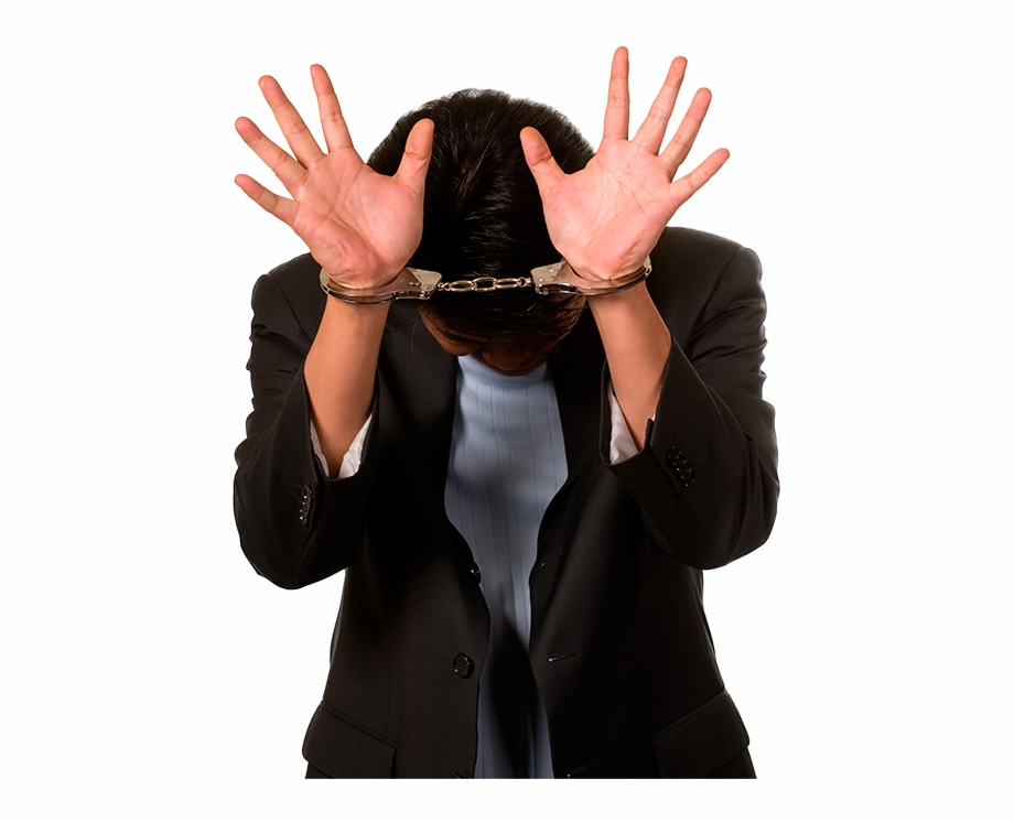 Handcuffs clipart person. Man with png download