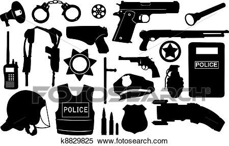 Osp silhouette clip art. Handcuffs clipart police equipment