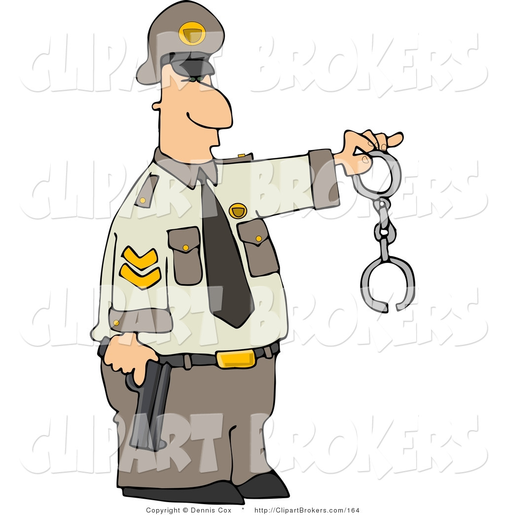 Clip art of a. Handcuffs clipart police officer