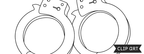Handcuffs clipart printable. Template